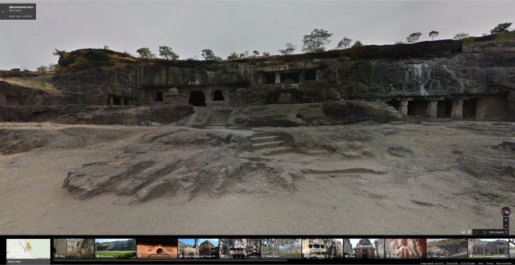 Ellora Caves 730x376 Google Street View now lets you explore even more historical sites in India