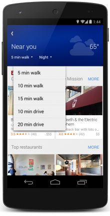 Explore 2 220x433 Google Maps challenges Foursquare with new Explore feature on Android and iOS