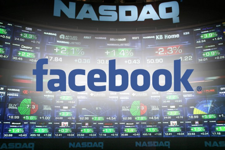 Facebook Nasdaq 730x486 How Facebook beat Wall Street with data and tripled its share price