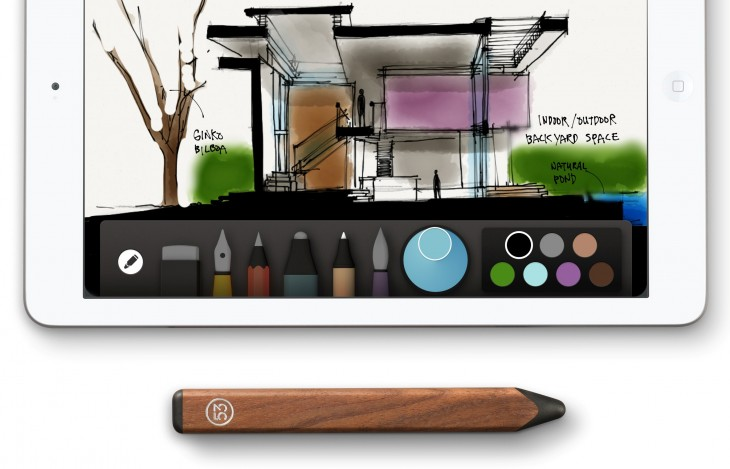 FiftyThree Pencil Walnut with Paper 730x469 Pencil & Paper: FiftyThrees stylus launches in Europe for its Paper iPad app
