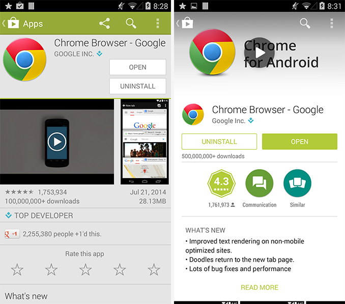 Google play store redesign begins rolling out on android Play store app