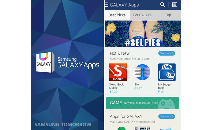 Galaxy Apps1 Samsung revamps its app store, touting hundreds of exclusive apps for Galaxy devices
