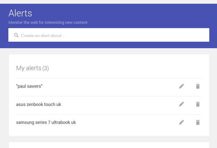 Google Alerts Design Refresh