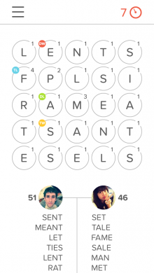 Haste Screenshot 1 220x390 Haste for iPhone is like QuizUp meets Boggle