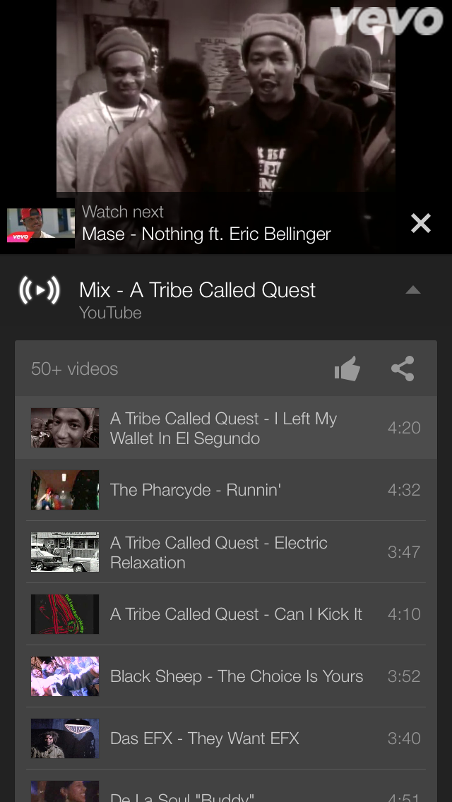 YouTube for iOS Now Includes Auto-Generated Playlists