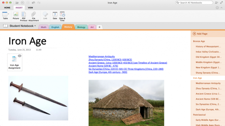 Iron Age 1024x576 730x410 Microsofts OneNote for Mac and iOS apps now let you insert Office docs, reorganize notes, and more