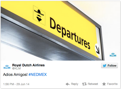 KLM screenshot In social media marketing, who owns your brands voice?