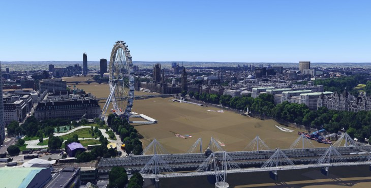 LondonEye 01 730x370 Google Maps and Google Earth now offer detailed 3D imagery of London