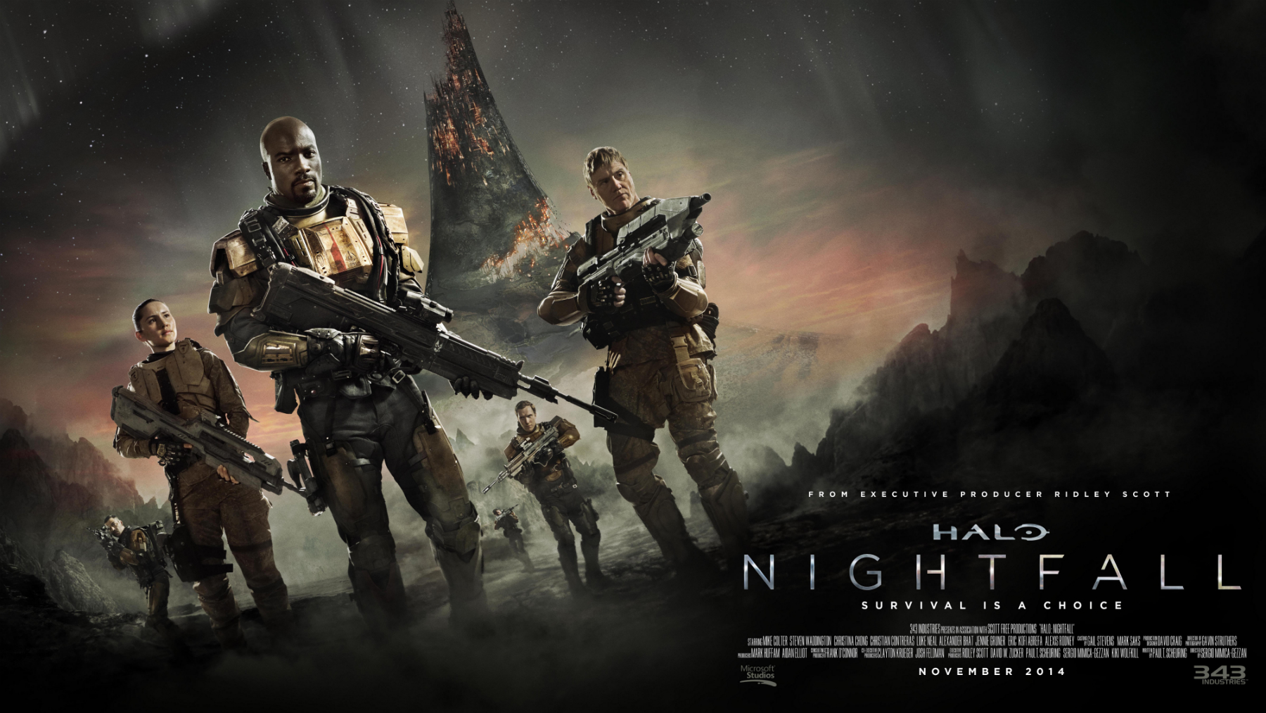 Watch the First Trailer for Ridley Scott's Halo: Nightfall Show