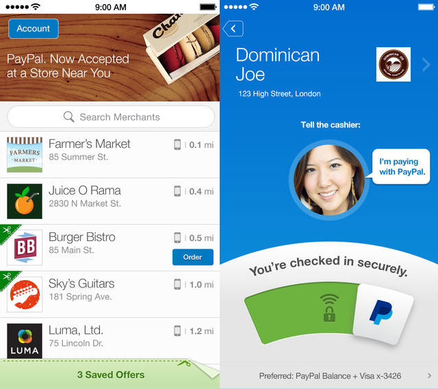 PayPal iOS App PayPal now lets you link loyalty cards to its iOS app
