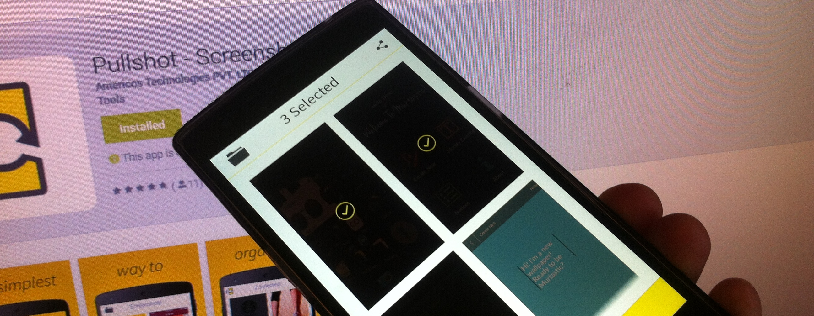Pullshot: A Simple Screenshot Organizer for Android