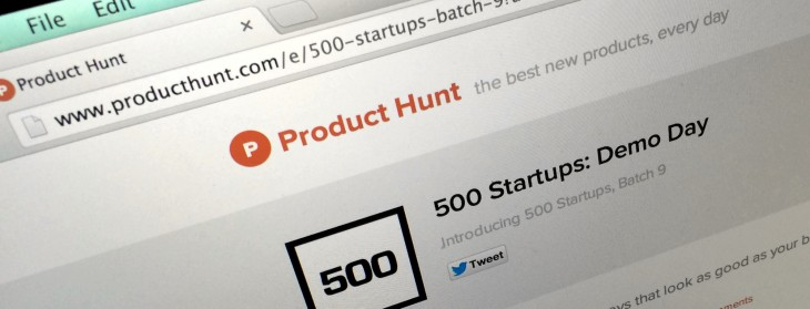 Product Hunt 730x279 The 10 best startups from Y Combinators summer 2014 mega demo day