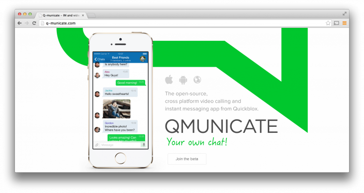 Q municate 730x388 Quickblox Q municate lets developers build their own Whatsapp with ease