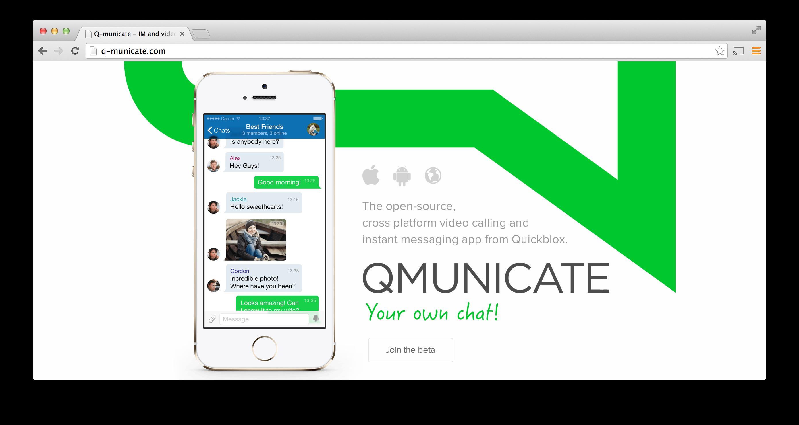 Quickblox q municate 39 whatsapp in a box 39 for Build a room app