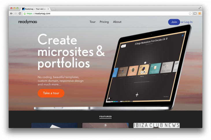 Readymag 730x484 Readymag takes on Squarespace, helping you make stylish microsites, photo stories and more with ease