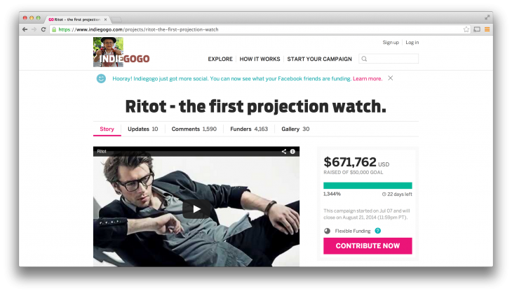 Ritot 730x419 The trouble with crowdfunding: When an interesting product blinds you to red flags