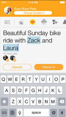 Screen Shot 2014 07 07 at 5.00.12 PM 220x390 Foursquare's Swarm iOS app gets mayor leaderboards for every check in, easier sharing and more