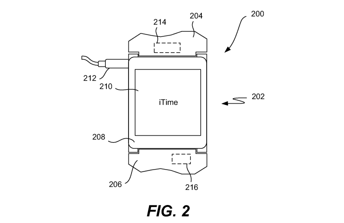 Screen Shot 2014 07 22 at 14.18.44 Apple patent from 2011 reveals iTime smartwatch design with detachable center module