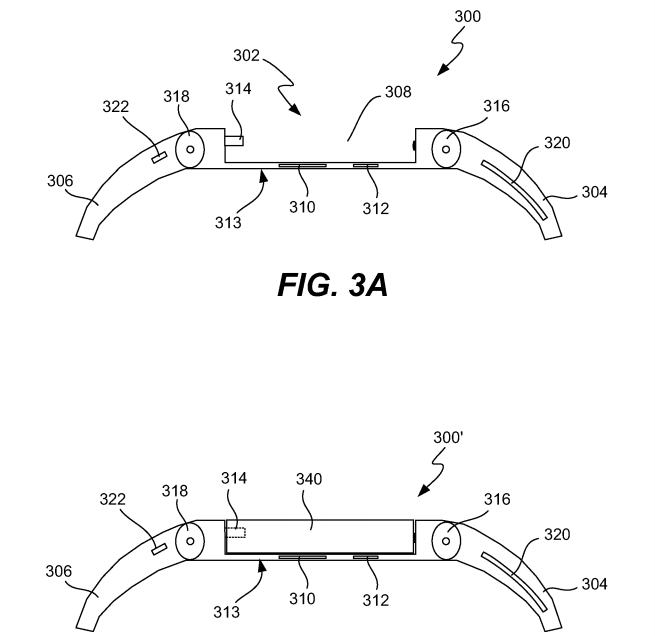 Screen Shot 2014 07 22 at 14.23.36 Apple patent from 2011 reveals iTime smartwatch design with detachable center module