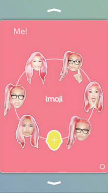 Screen Shot 2014 07 23 at 5.48.21 PM 220x392 Imoji for iPhone turns your selfies into awesome iMessage stickers