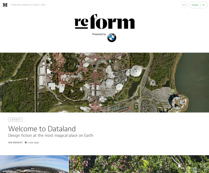 Screen Shot 2014 07 29 at 15.07.05 730x604 Medium finds a revenue stream with Re:form, a new collection of stories sponsored by BMW