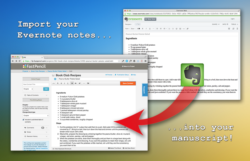 Evernote Integrates with FastPencil So You Can Publish Your Notes