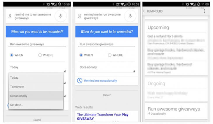 Screenshot 2014 07 07 03.33.59 730x424 Google Now gets a new occasional reminder option for recurring tasks and events