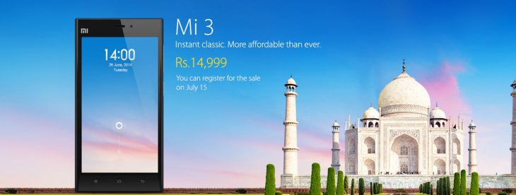 Screenshot 2014 07 08 13.30.461 730x276 Xiaomi will sell its first smartphone in India, the $250 Mi 3, on July 15
