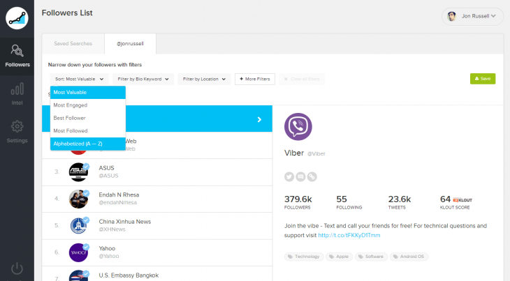 Screenshot 2014 07 30 21.30.19 730x403 SocialRank now lets you analyze your Twitter followers based on location and keywords