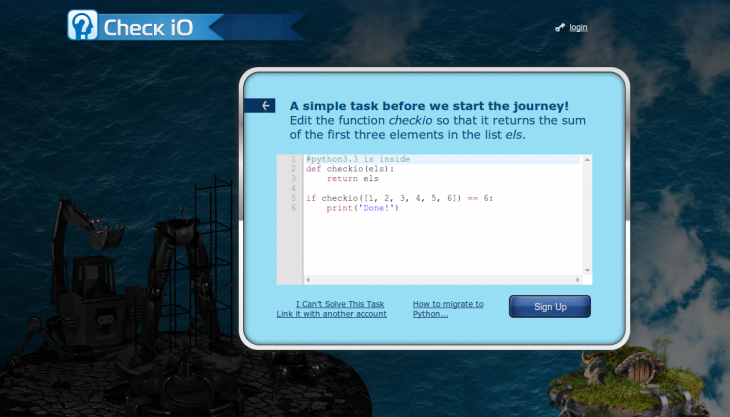 Screenshot from 2014 07 08 121021 730x417 CheckiO launches a crowdsourced coding game platform for Python developers