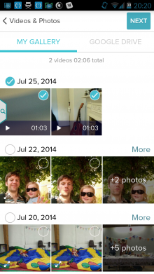 Screenshot 2014 07 25 20 20 07 220x391 How to shoot, edit and publish videos from your Android smartphone