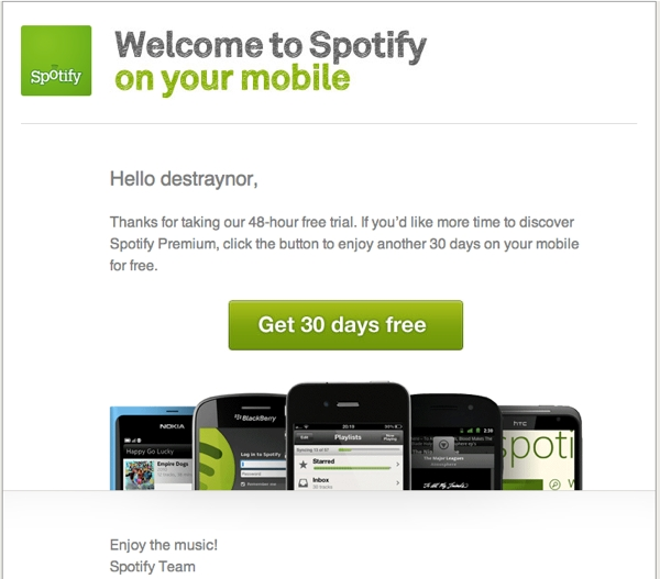 Spotify please Effective Web messaging: How to say the right thing at the right time