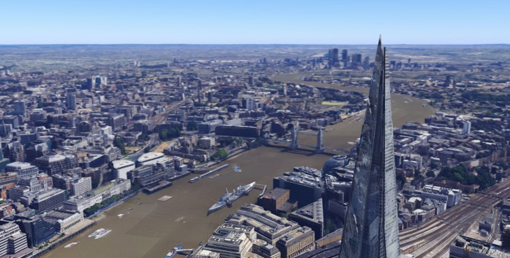 TheShard 03 730x370 Google Maps and Google Earth now offer detailed 3D imagery of London