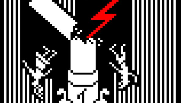 ThreadofFate Teletext is being used to make retro pixel art