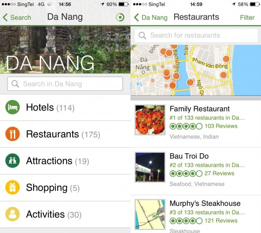 TripAdvisor Offline 2 520x464 The TripAdvisor app now lets you download reviews and maps for on the go access even while offline