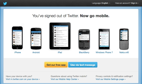 Twitter SignedOut Effective Web messaging: How to say the right thing at the right time