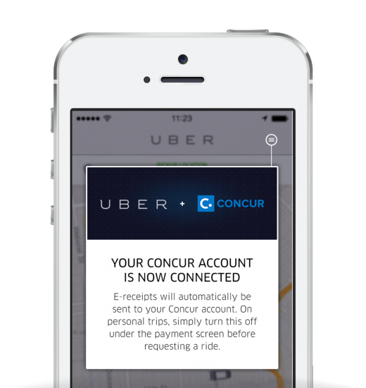 Uber Concur 1 520x550 Uber aims for businesses with a new platform, while integrating with Concur for easy expensing