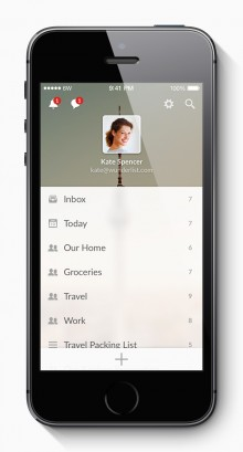 Wunderlist 3 iPhone Lists 220x409 Wunderlist is completely rebuilt in a bid to become the home of the worlds lists