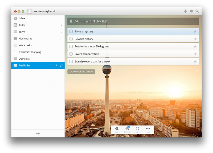 Wunderlist for Chrome 730x523 Wunderlist is completely rebuilt in a bid to become the home of the worlds lists