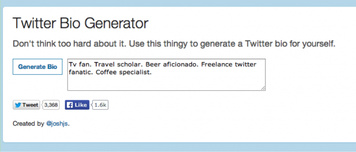 biogenerator 730x313 7 key ingredients for a powerful Twitter bio