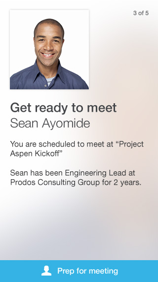 card goingtomeet LinkedIn replaces its Contacts iOS app with Connected to take the 'work' out of networking
