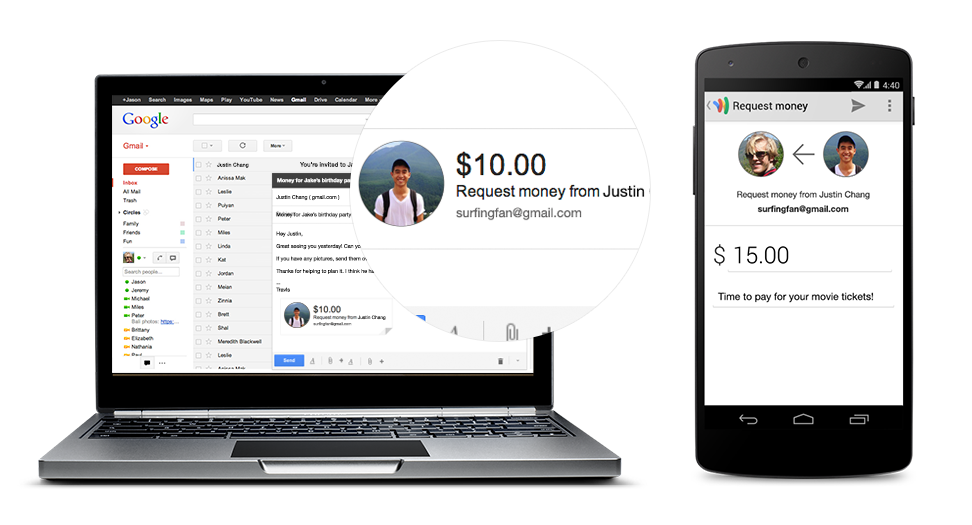 chromebookrequestmoney Google Wallet gets gift cards, requesting money, sending it from your debit card for free, and Spanish support