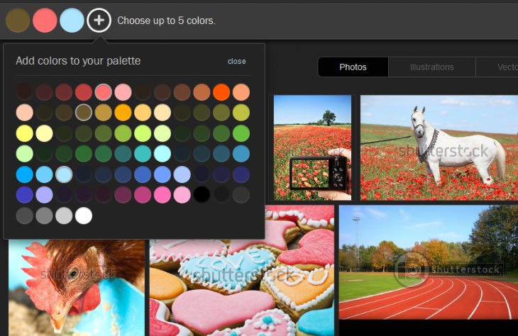 df 730x474 Shutterstocks Palette tool helps you find stock photos based on color combinations