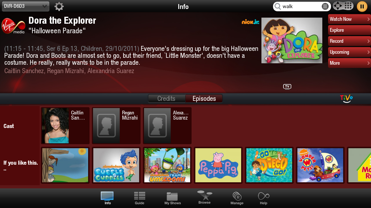 Virgin TV Anywhere on Kindle Fire