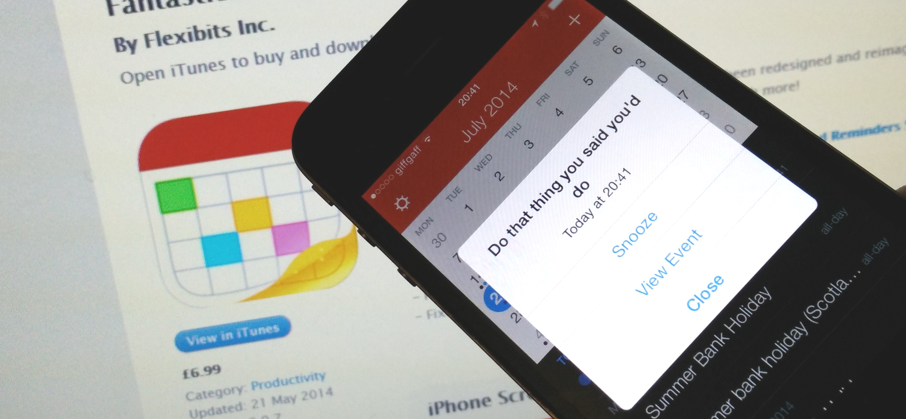 Fantastical for iOS Now Lets you Snooze Calendar Reminders