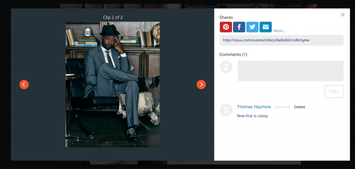 fashion 3 730x347 Issuu launches Clip to help users and publishers share the best of its 16m publications