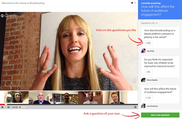 google plus hangouts q and a How to run a Google+ Hangouts series