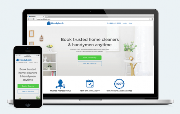 handybook 730x462 Handybooks cleaner and handyman booking service is now available in London, priced from £10 per hour