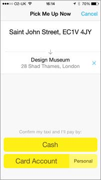 image005 Hailo now lets you book taxis directly through Citymapper's journey planning app