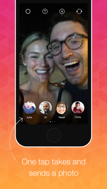 instagram bolt 220x390 Instagram prepares to launch its Bolt messaging app, but only in 3 countries